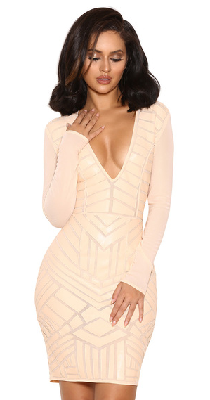 house of cb vegan mesh leather dress