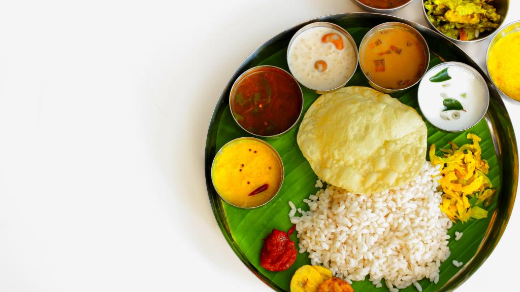 vegan indian thali