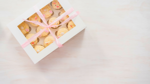 bunny cupcake gift box