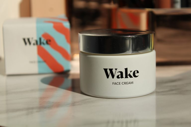 Wake Skincare Cream jar flatlay